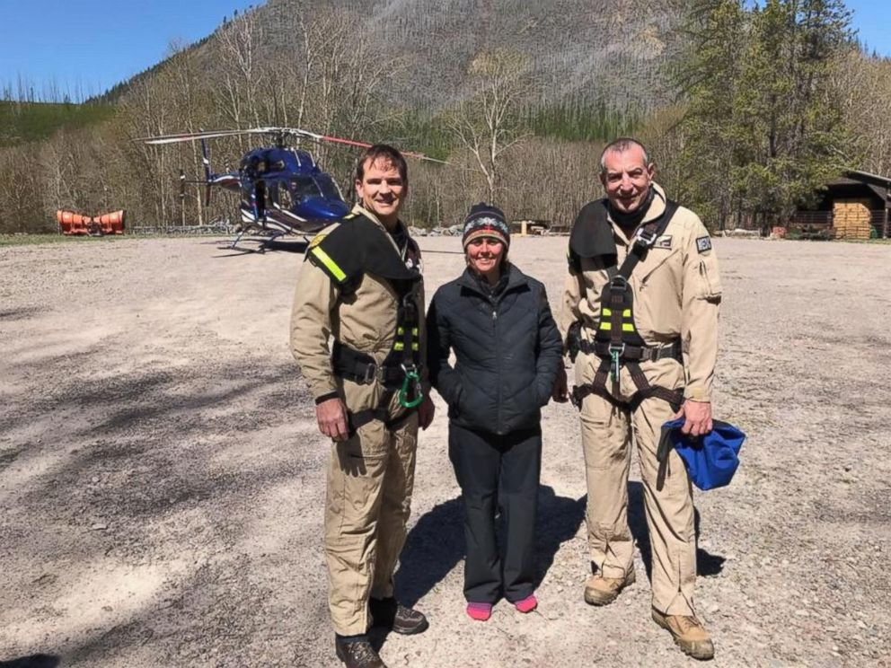 Aircrew Finds Hiker